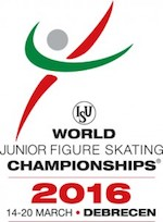 2016 World Junior Figure Skating Championships in Debrecen, Hungary logo