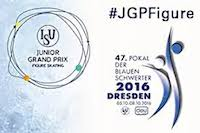 2016 Junior Grand Prix of Figure Skating in Dresden logo.