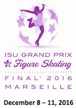 Logo of 2016 Junior Grand Prix Final of Figure Skating in Marseille, France