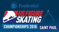 US Figure Skating Championships in St. Paul, MN logo.